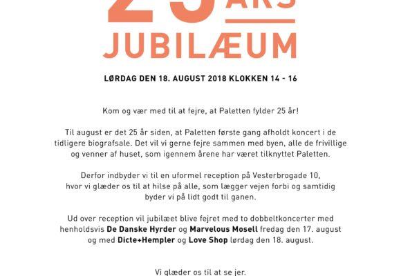 Paletten fejrer 25 års jubilæum